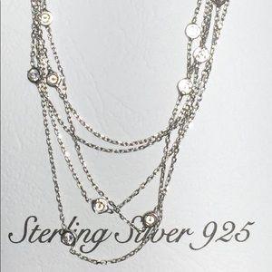 925 K Sterling Silver Tiffany Style Necklace